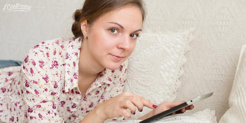 Student Searching the Net